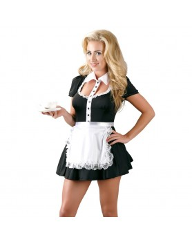Cottelli Collection Costumes Black Maids Dress