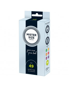 Mister Size 49mm Your Size Pure Feel Condoms 10 Pack