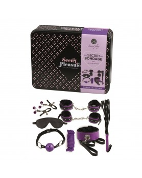 Secret Bondage Kit Black And Purple Collection