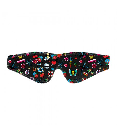 Ouch Old School Tattoo Printed Eye Mask